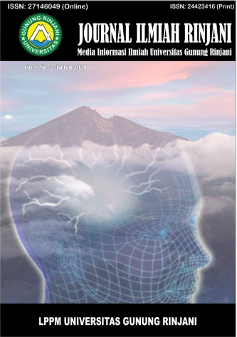 View Vol. 8 No. 2 (2020): Journal Ilmiah Rinjani: Media Informasi Ilmiah Universitas Gunung Rinjani