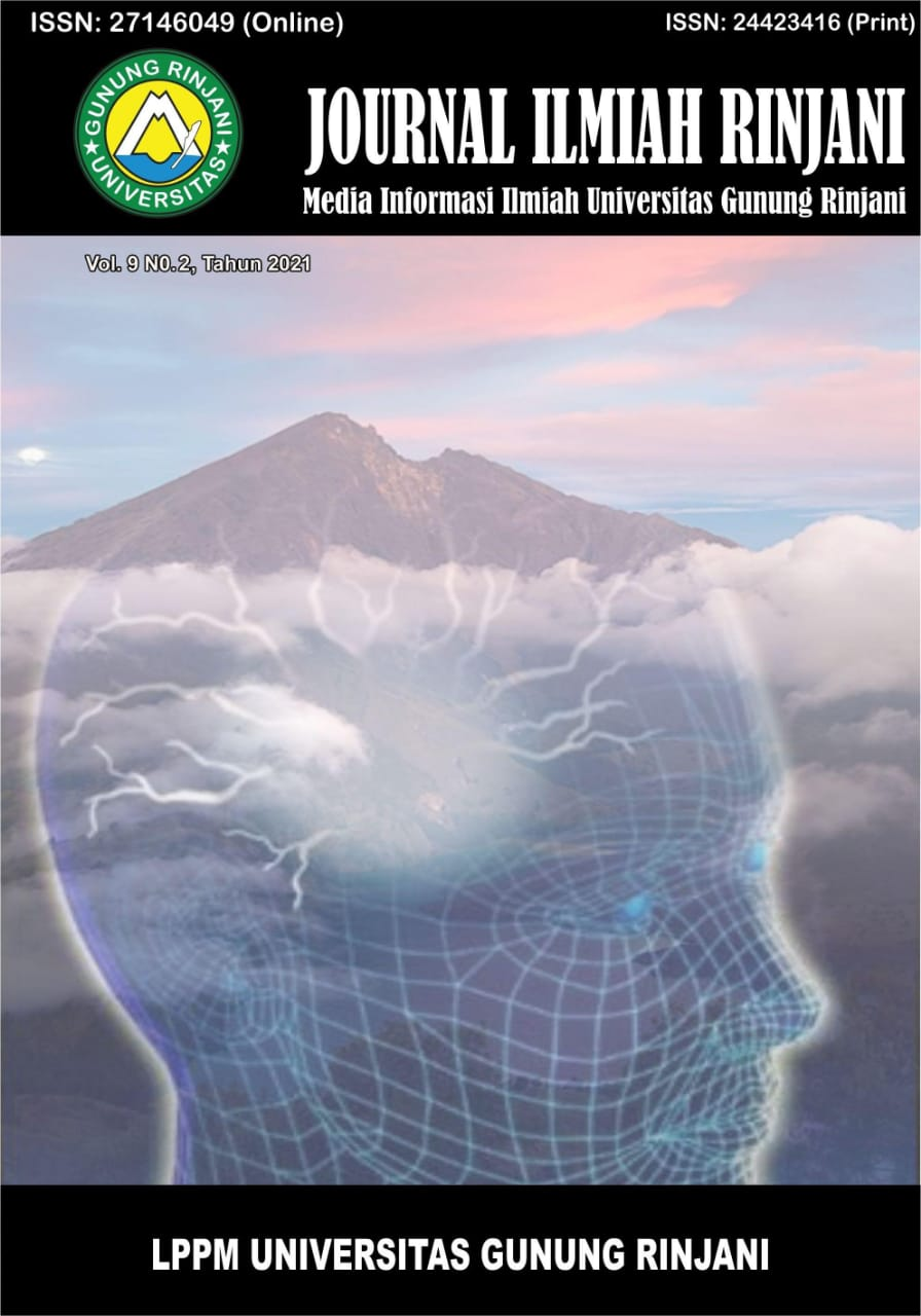 View Vol. 9 No. 2 (2021): Journal Ilmiah Rinjani: Media Informasi Ilmiah Universitas Gunung Rinjani